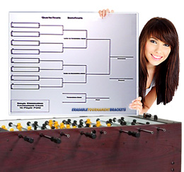 Extra Large, Laminated ERASABLE Tournament Brackets